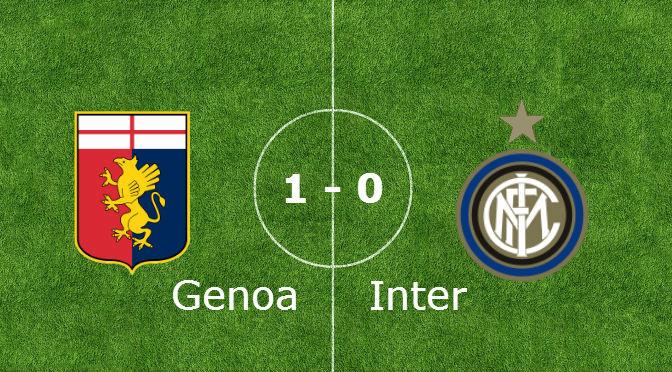 Inter battuto dal Genoa. Una brutta domenica per i nerazzurri
