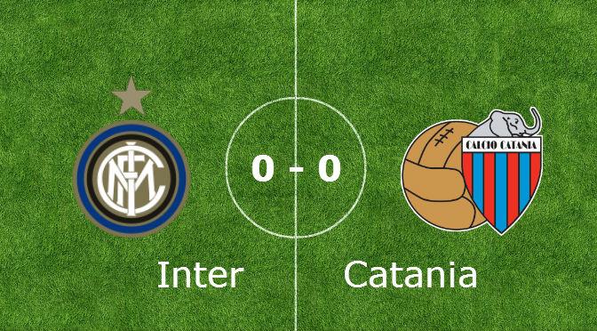 Non si rompe la maledizione sull'Inter. Pareggio contro il Catania