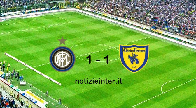 Inter – Chievo si Conclude 1 a 1, tra le Polemiche