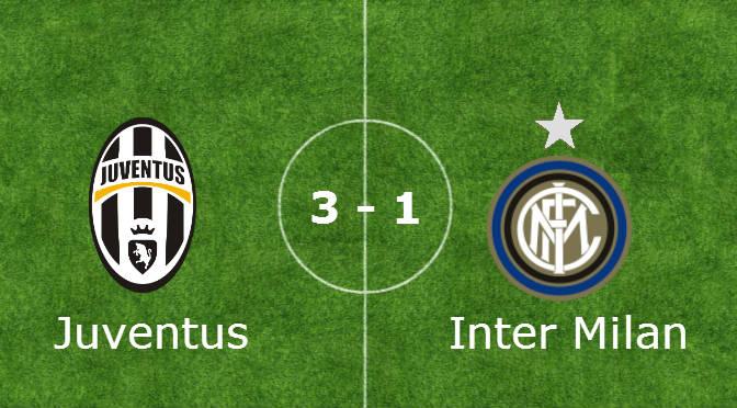 Pesante sconfitta dell'Inter allo Juventus Stadium